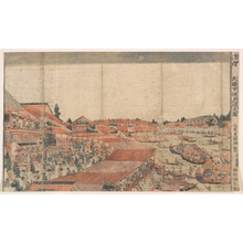 北尾重政: Landscape; Showing Water Festival with Lanterns - メトロポリタン美術館