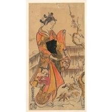西村重長: A Young Lady in a Garden - メトロポリタン美術館
