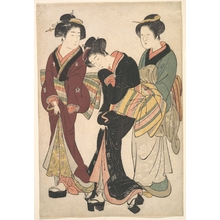 Kitao Shigemasa: Two Geishas and a Maid - Metropolitan Museum of Art