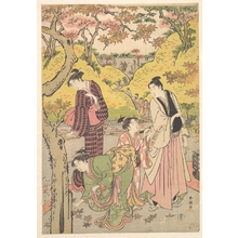 Katsukawa Shuncho: A Young Man, Two Young Women and a Girl at a Picnic Party - Metropolitan Museum of Art