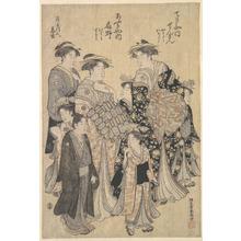 Katsukawa Shuncho: The Yoshiwara Parade - Metropolitan Museum of Art