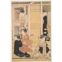 勝川春潮: Interior View - メトロポリタン美術館