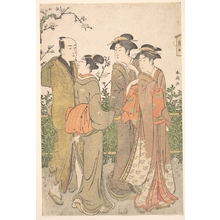 Katsukawa Shuncho: A Group of Three Women Accompanied by a Manservant - Metropolitan Museum of Art