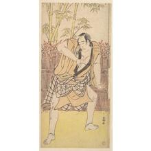 勝川春好: The Second Ichikawa Komazo as a Man standing in a Dramatic Attitude - メトロポリタン美術館