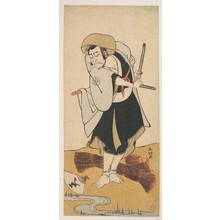 Katsukawa Shunko: The First Nakamura Nakazo as a Ronin Samurai Attired in a Black Kimono - Metropolitan Museum of Art
