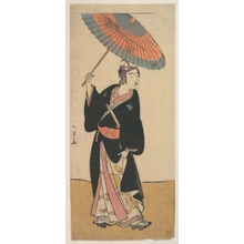 勝川春章: The Third Ichikawa Yaozo in the Role of Otokodate Sukeroku - メトロポリタン美術館