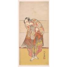 勝川春章: The Second Ichikawa Yaozo as a Man Standing with His Arms Crossed - メトロポリタン美術館