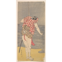 勝川春章: The Actor Otani Hiroemon III as Man Ready to Wade into the Sea with a Drawn Sword - メトロポリタン美術館