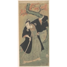 勝川春章: The Third Matsumoto Koshiro as a Samurai Standing - メトロポリタン美術館