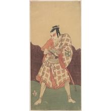勝川春章: The Third Matsumoto Koshiro in the Role of Matsuomaru in