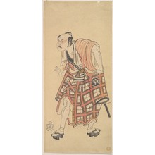 勝川春章: The Second Nakajima Mihoemon as a Man Standing with Head Bent Forward - メトロポリタン美術館