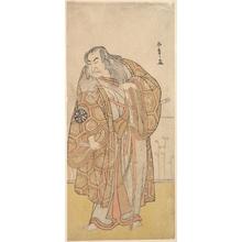 Katsukawa Shunsho: Ikunojo III as Chiyosaki Striking the Chozubachi; a Shower of Gold Coin Flies - Metropolitan Museum of Art