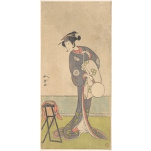 Katsukawa Shunsho: The First Nakamura Tomijuro as an Oiran Standing in a Room - Metropolitan Museum of Art