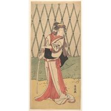 勝川春英: Segawa Kikunojo, in a Female Role - メトロポリタン美術館