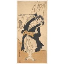 Katsukawa Shunsho: The Third Otani Hiroemon as an Outlaw Standing Near a Willow Tree - Metropolitan Museum of Art