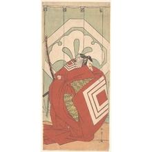 勝川春章: Ichikawa Danjuro V in a Shibaraku Role - メトロポリタン美術館