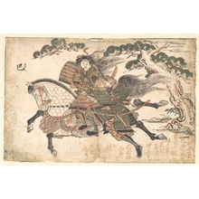 Ishikawa Toyonobu: Tomoe Gozen Killing Uchida Saburo Ieyoshi at the Battle of Awazu no Hara - Metropolitan Museum of Art