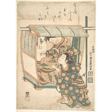 Ishikawa Toyonobu: A Woman Seated in a Kago - Metropolitan Museum of Art