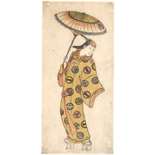 Ishikawa Toyonobu: A Dandy of More Than Questionable Morals Out Walking on a Cold Day - Metropolitan Museum of Art