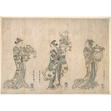 石川豊信: Three Actors - メトロポリタン美術館