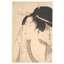 喜多川歌麿: Woman Relaxing after Her Bath - メトロポリタン美術館