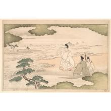 Kitagawa Utamaro: The Exile of Yukihira at Suma - Metropolitan Museum of Art