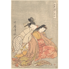 Kitagawa Utamaro: The Poet Ariwara no Narihira (825–880) Courting a Woman - Metropolitan Museum of Art