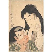 Kitagawa Utamaro: Yamauba and Kintoki - Metropolitan Museum of Art