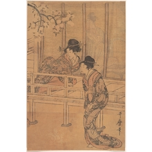 Kitagawa Utamaro: The Lady of Rokujo being Visited by the Princess Aoi - Metropolitan Museum of Art