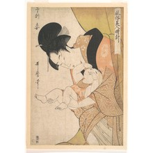 喜多川歌麿: Midnight: Mother and Sleepy Child - メトロポリタン美術館