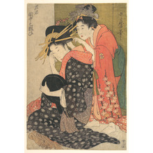 Kitagawa Utamaro: The Oiran Yoso-oi Seated at Her Toilet - Metropolitan Museum of Art