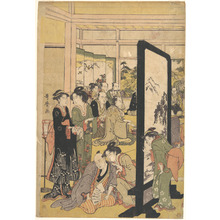 Kitagawa Utamaro: The Artist Kitao Masanobu Relaxing at a Party - Metropolitan Museum of Art