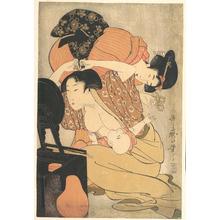 喜多川歌麿: Mother and Child - メトロポリタン美術館