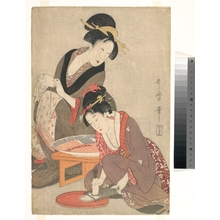 Kitagawa Utamaro: Women Preparing Sashimi - Metropolitan Museum of Art