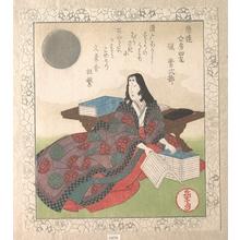 屋島岳亭: Four Friends of Calligraphy: Lady Murasaki - メトロポリタン美術館