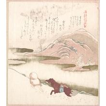窪俊満: Snowy Landscape - メトロポリタン美術館