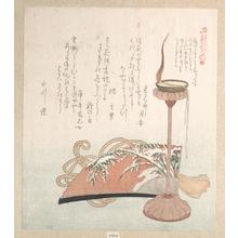 窪俊満: Candle-Stand and Fan - メトロポリタン美術館