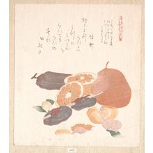 窪俊満: Oranges and Dried Persimmons - メトロポリタン美術館