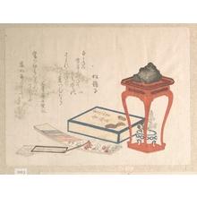柳々居辰斎: Stand, Box and Writing-Paper - メトロポリタン美術館