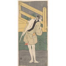 Katsukawa Shun'ei: Arashi Ryuzo as a Man Clad only in a Pale Blue Garment - Metropolitan Museum of Art
