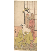 勝川春英: The Eighth Morita Kanya in the Role of Oboshi Yuranosuke - メトロポリタン美術館