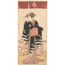 Katsukawa Shun'ei: The Actor Ichikawa Monosuke II in an Unidentified Female Role - Metropolitan Museum of Art