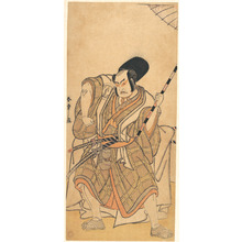 Katsukawa Shunsho: The Actor Nakamura Sukegorô II as a Samurai Disguised as a Shichô or Attendant at a Shinto Shrine - Metropolitan Museum of Art