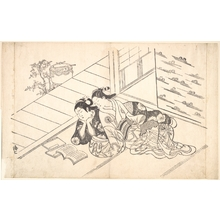 Nishikawa Sukenobu: Two Women Reclining on the Floor of a Room and Reading a Book - Metropolitan Museum of Art