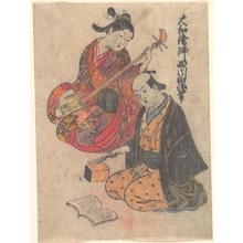 西川祐信: Young Lady Taking a Lesson on the Shamisen - メトロポリタン美術館