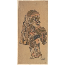 奥村利信: Actor (unidentified) as a Peddler of Dry Goods - メトロポリタン美術館