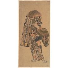 Okumura Toshinobu: Actor (unidentified) as a Peddler of Dry Goods - Metropolitan Museum of Art