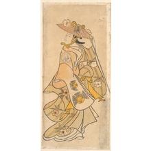 奥村利信: Actor Sanjo Kantaro (1697–1763) as a Woman - メトロポリタン美術館