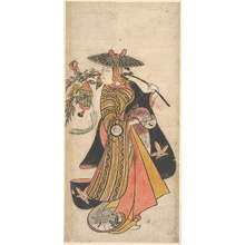 奥村利信: Actor Sanogawa Ichimatsu (1722–1763) as a Courtesan during the Tanabata Festival - メトロポリタン美術館