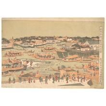 Utagawa Toyoharu: New Great Bridge at Naka Zu in Edo - Metropolitan Museum of Art